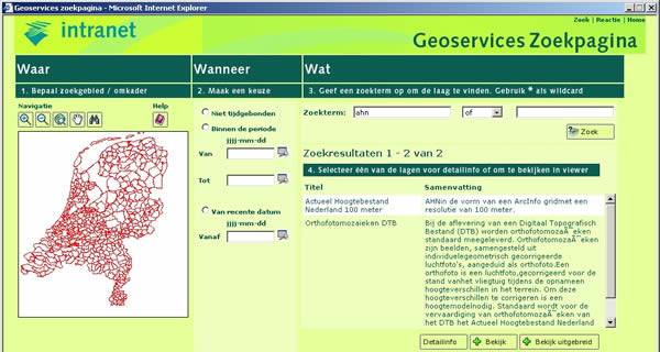 Geoservices Screenshot
