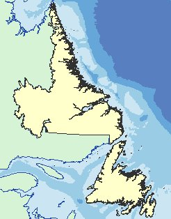 Newfoundland and Labrador as depicted at MapNL.