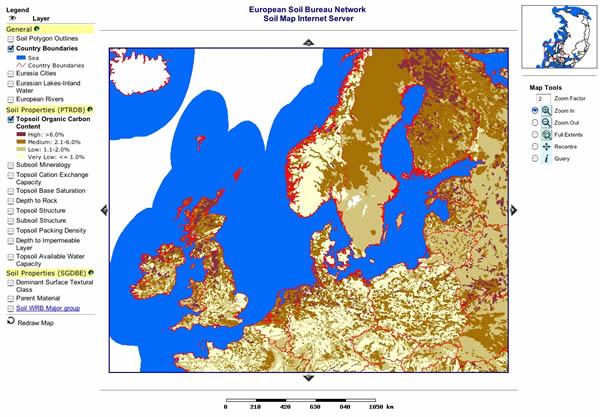 Eurpean Soil Bureau Network Server