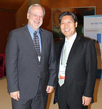 Mark Reichardt with Gen. Seog-jun Song