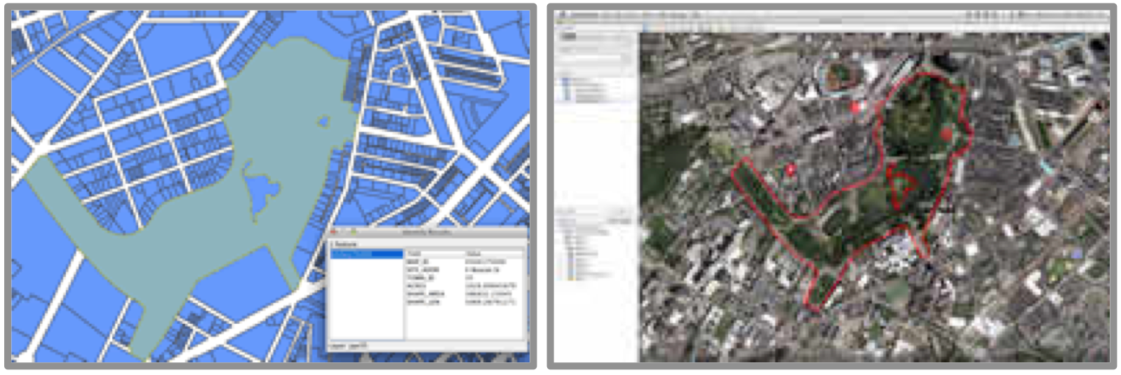 parcels in GIS and Google Earth