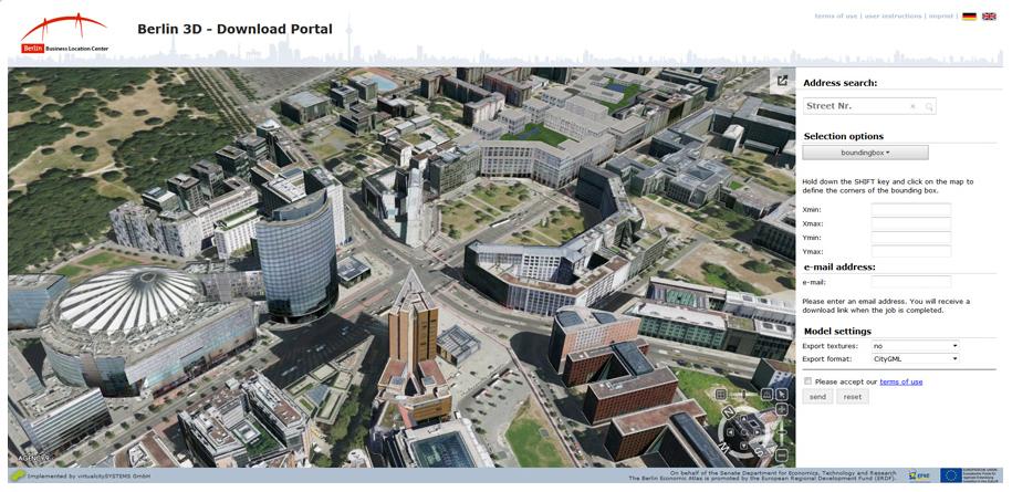 Berlin CityGML 3D model