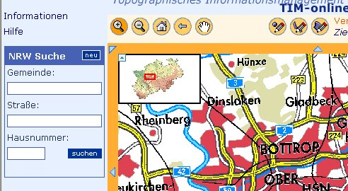 Part of NRW Map