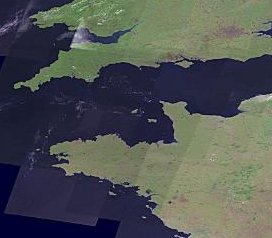 Europe Landsat Image